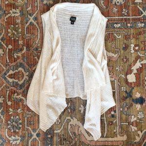 Eileen Fisher Linen Cardigan Vest